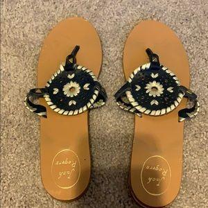 Jack Rogers navy sandals. Size 8.5